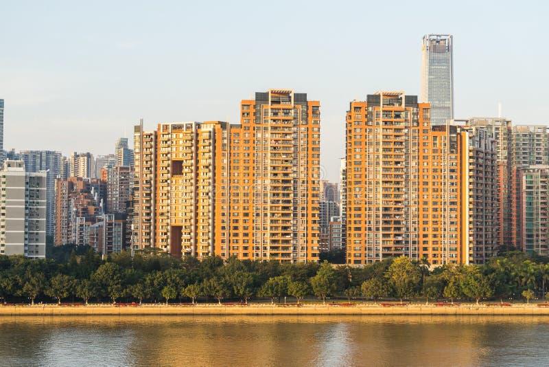 Vista della citt? di Canton in Cina fotografia stock