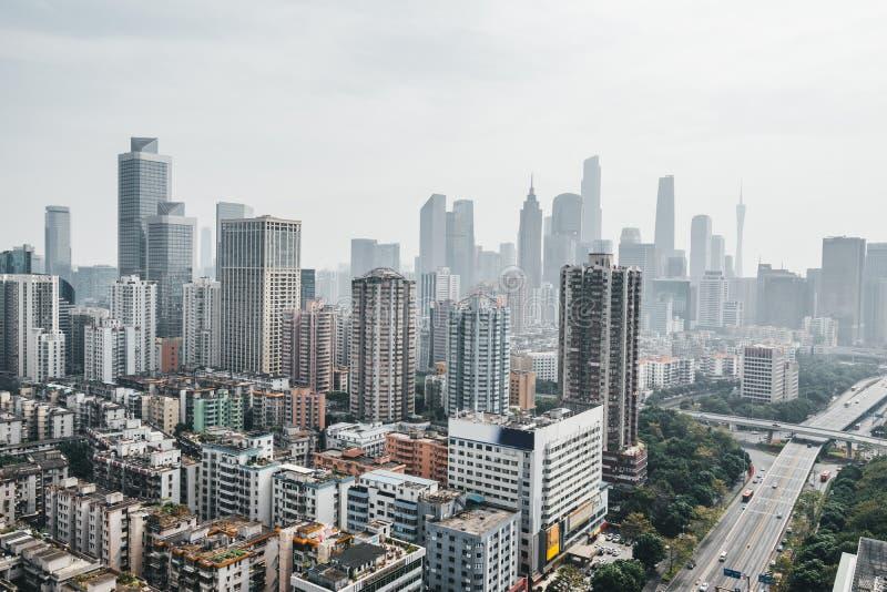 Vista della citt? di Canton in Cina fotografie stock libere da diritti