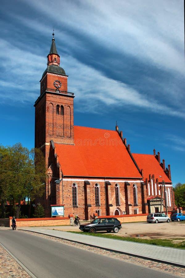 Vista della citt? di Sepopol nella contea di Bartoszyce, Warmian-Masurian Voivodeship, Polonia immagine stock