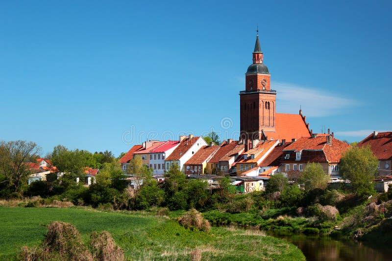 Vista della citt? di Sepopol nella contea di Bartoszyce, Warmian-Masurian Voivodeship, Polonia fotografie stock libere da diritti