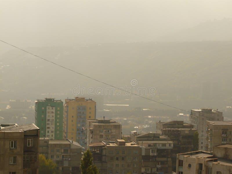 Vista della citt? di Tbilisi fotografia stock libera da diritti