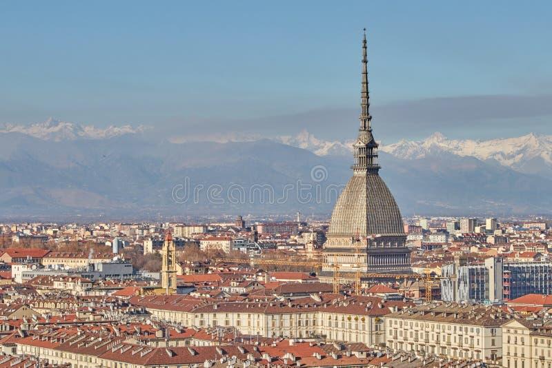 Vista della citt? di Torino fotografia stock libera da diritti