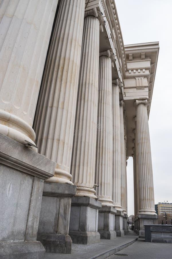 Vista della corte costituzionale della Repubblica Macedone immagini stock