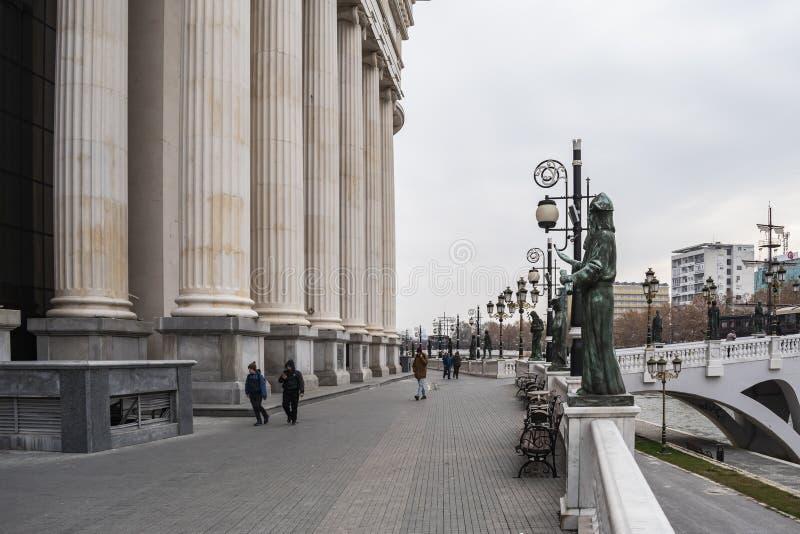 Vista della corte costituzionale della Repubblica Macedone immagini stock libere da diritti