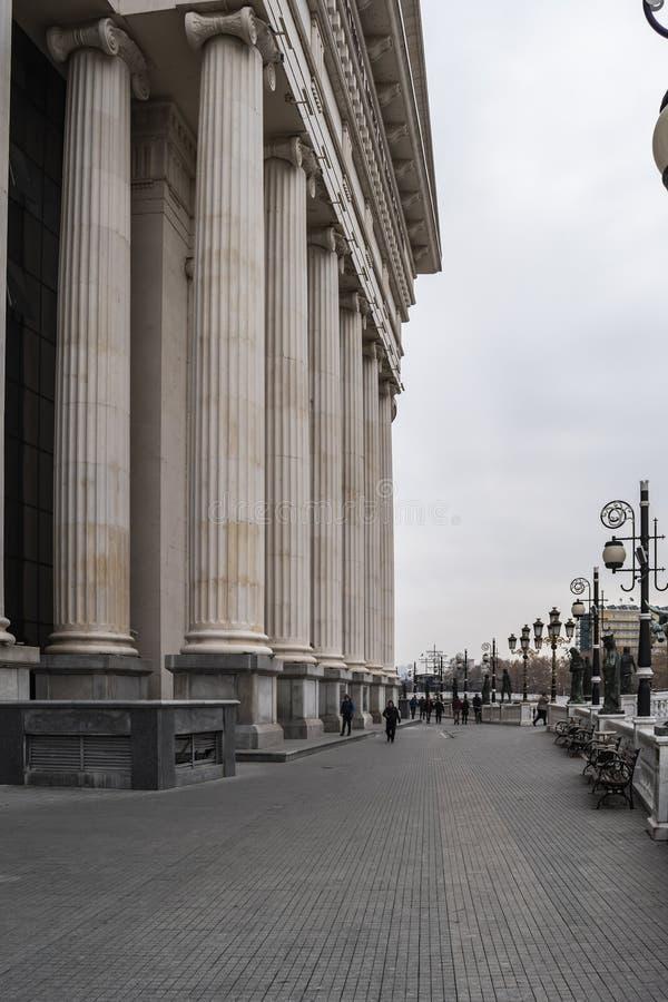 Vista della corte costituzionale della Repubblica Macedone immagine stock