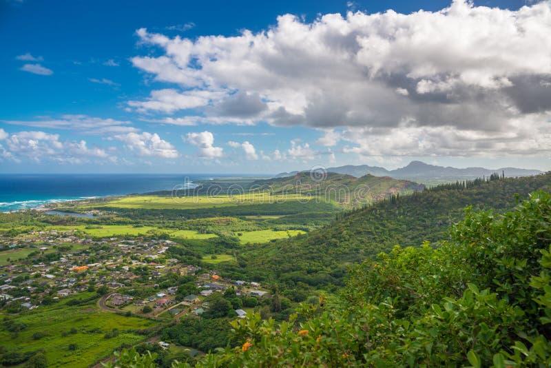 Vista della costa ovest dell'isola di Kauai, Hawai fotografia stock