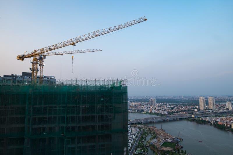 Vista della costruzione da urbano immagini stock