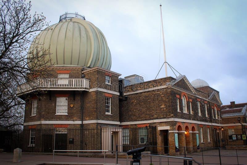 Vista della costruzione dell'osservatorio di Greenwich, Londra fotografia stock