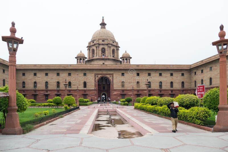 Vista della costruzione della proprietà del ` s di presidente di Rashtrapati Bhavan fotografia stock libera da diritti