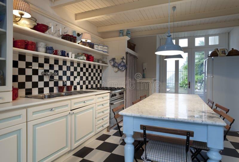Vista della cucina immagine stock