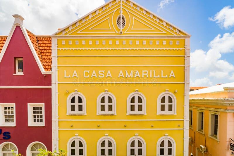 Vista della finestra - punti di vista di Punda Curacao immagine stock libera da diritti