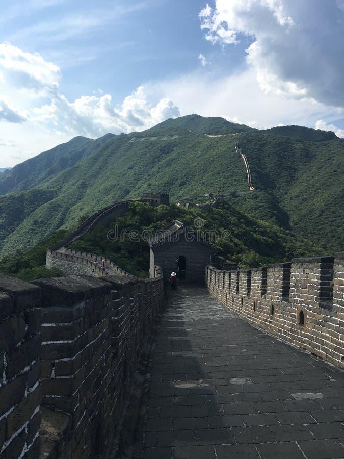 Vista della grande muraglia fotografia stock libera da diritti
