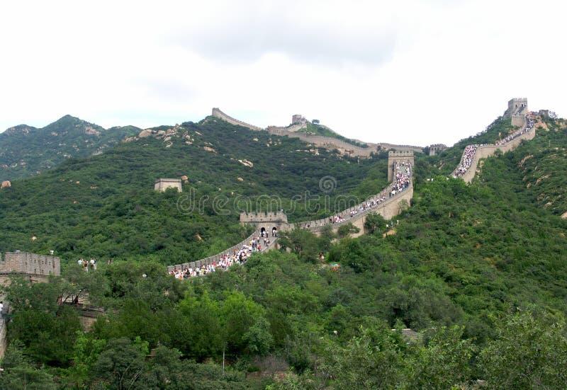 Vista della grande muraglia della Cina fotografia stock libera da diritti