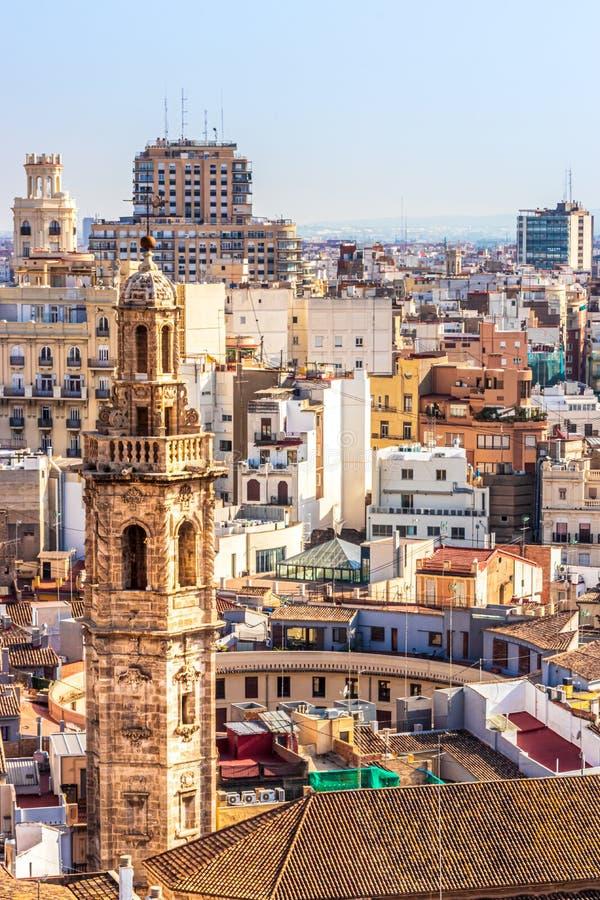 Vista della guglia di Iglesia Santa Catalina, Valencia, Spagna immagini stock libere da diritti