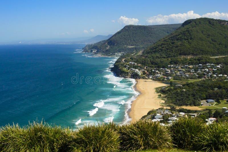 Vista della linea costiera del Nuovo Galles del Sud, Australia fotografie stock