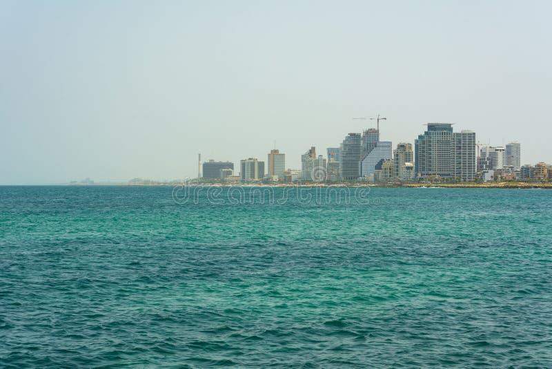 Vista della linea costiera di Tel Aviv immagine stock libera da diritti