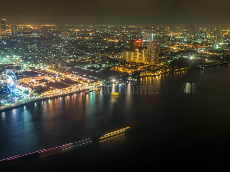 Vista della luce notturna di Asiatique fotografia stock