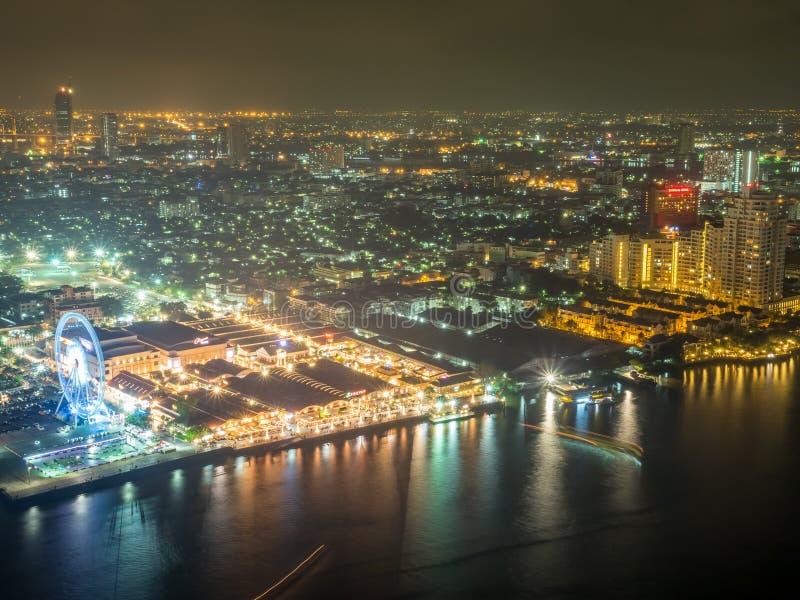 Vista della luce notturna di Asiatique immagini stock