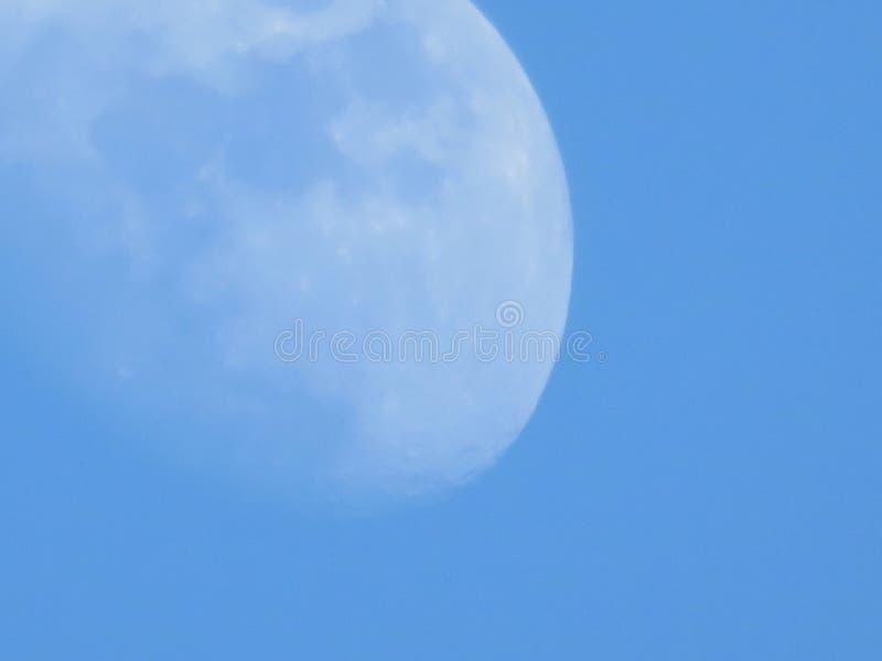 Vista della luna fotografie stock