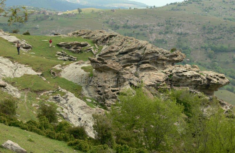 Vista della montagna di Rhodope, Bulgaria immagini stock libere da diritti
