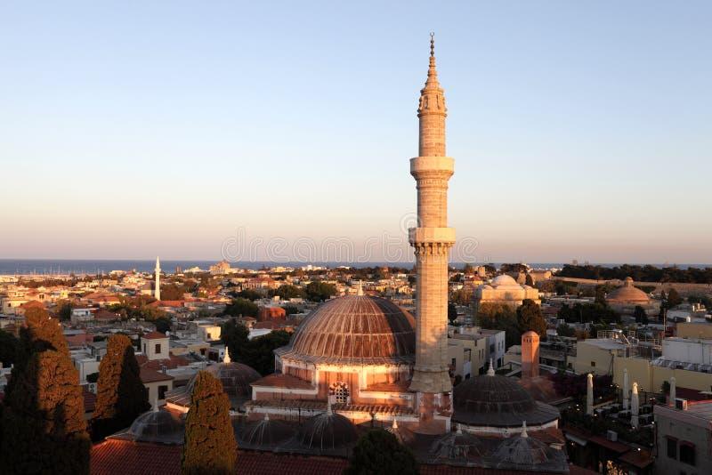 Vista della moschea di Suleiman fotografie stock