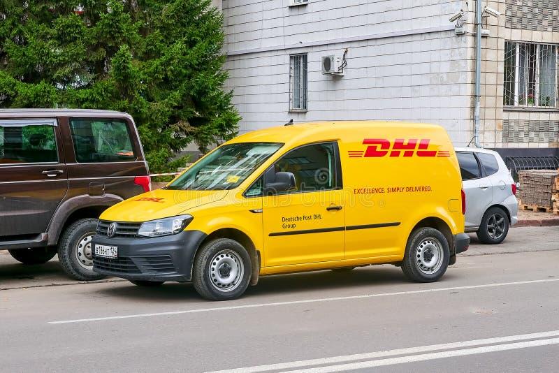Vista della parte di sinistra del carrello di Volkswagen fotografia stock libera da diritti
