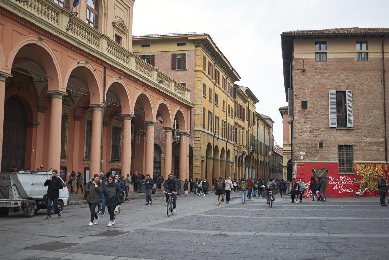 Vista della piazza Verdi fotografie stock
