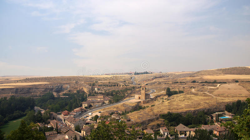Vista della sierra dall'alcazar di Segovia fotografia stock