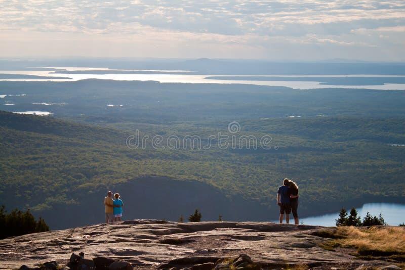 Vista della sosta nazionale di Acadia fotografia stock