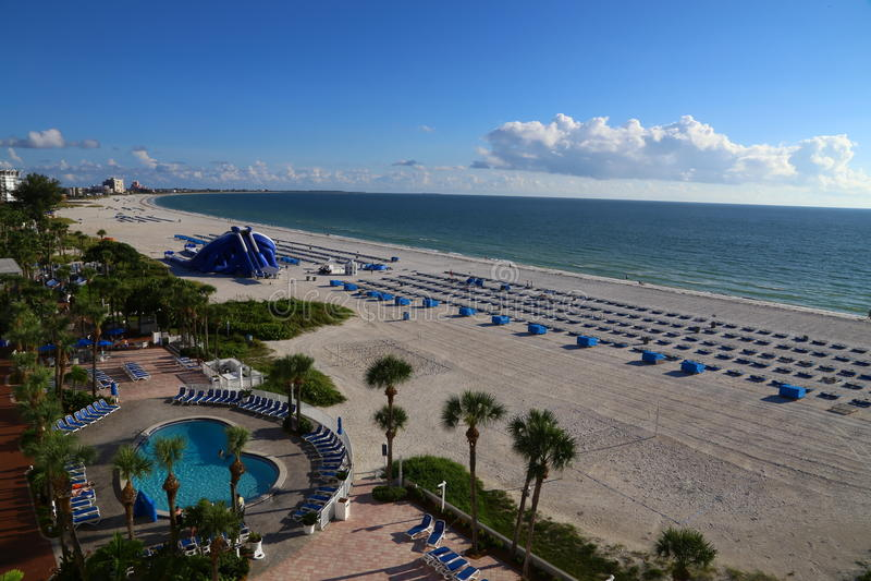 Vista della spiaggia fotografia stock