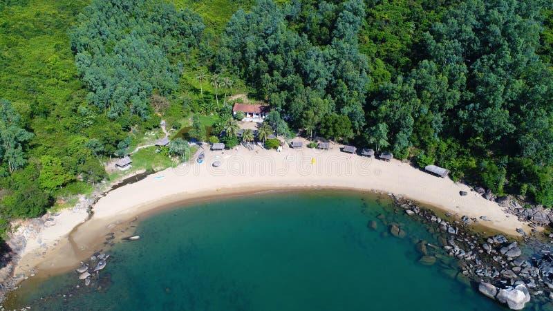 Vista della spiaggia di Da Nang fotografia stock