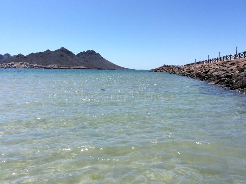Vista della spiaggia di Miramar fotografia stock libera da diritti
