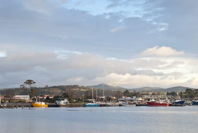 Vista della st Helens, Tasmania immagini stock libere da diritti