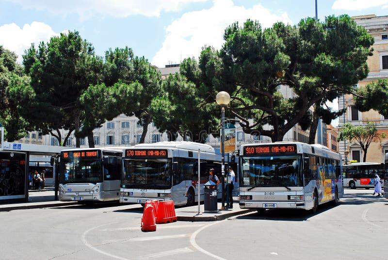 Vista della stazione di estremità della città di Roma il 1° giugno 2014 fotografia stock