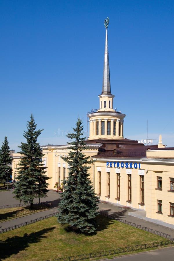 Vista della stazione Petrozavodsk fotografia stock libera da diritti