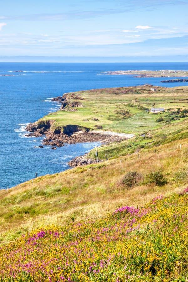 Vista della strada del cielo in Irlanda fotografie stock