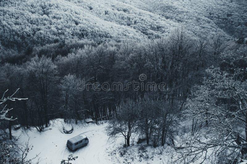 Vista della strada della montagna fotografia stock libera da diritti