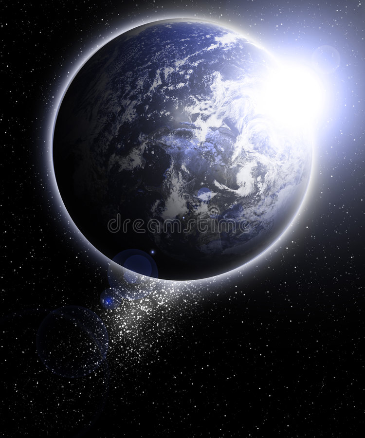 Vista della terra royalty illustrazione gratis