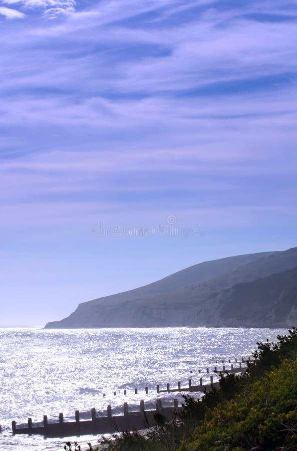 Vista della testa sassosa da Eastbourne immagini stock