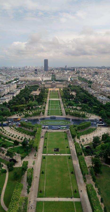 Vista della Torre Eiffel immagine stock libera da diritti