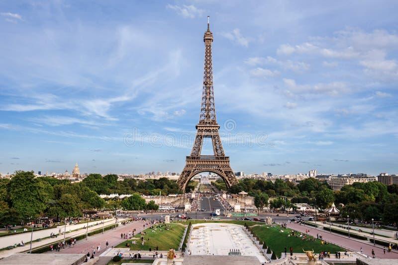 Vista della Torre Eiffel da Trocadero immagine stock libera da diritti