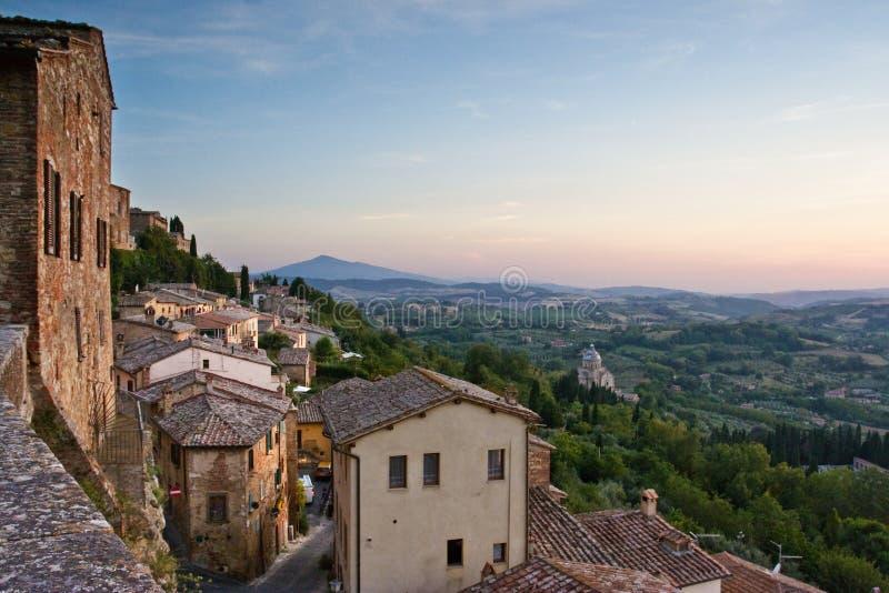 Vista della Toscana fotografie stock libere da diritti