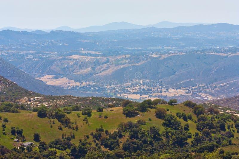 Vista della valle fotografie stock libere da diritti