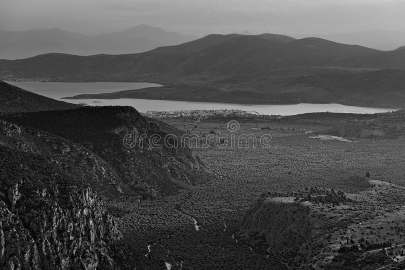 Vista della valle immagine stock