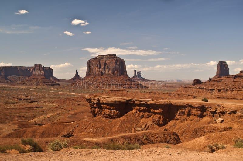 Vista della valle del monumento fotografie stock