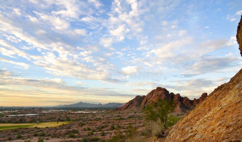 Vista della valle del Sun, Phoenix fotografia stock libera da diritti