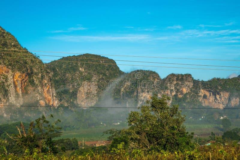 Vista della valle delle birre inglesi del ½ del ¿ di Viï in Cuba Natura irreale con i laghi, montagna, alberi, fauna selvatica Ci fotografia stock