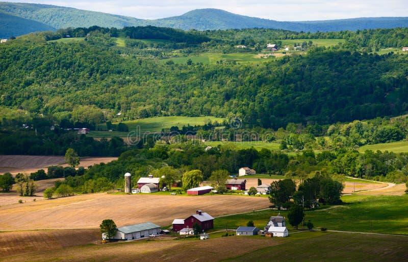 Vista della valle in Pensilvania rurale fotografia stock libera da diritti