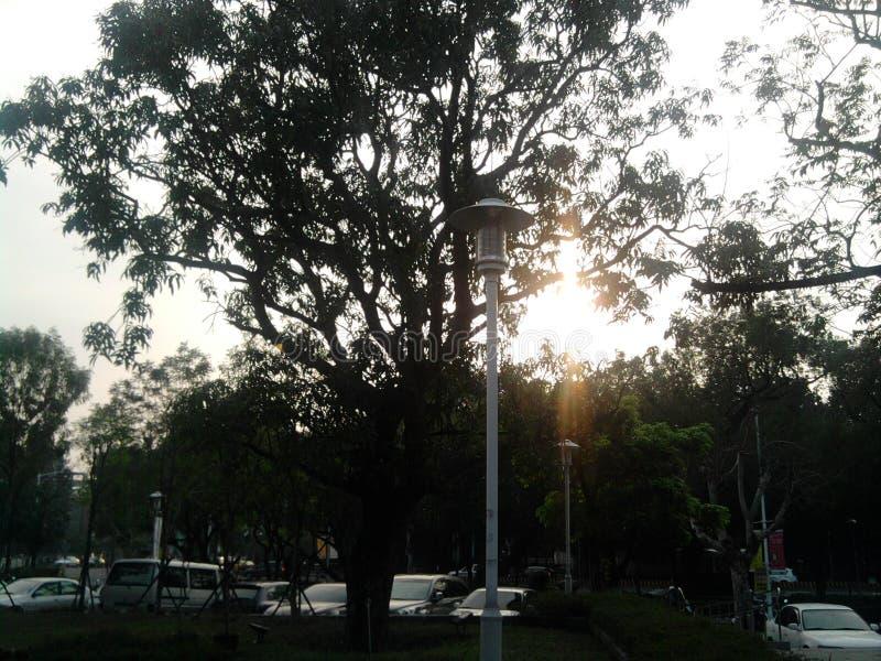 Vista della via alle 4 del pomeriggio in Taiwan immagini stock