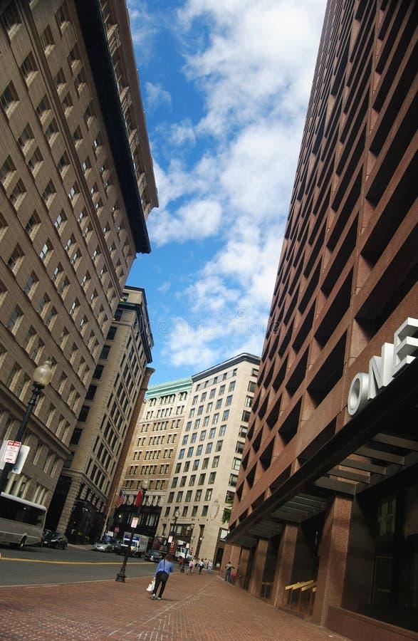 Vista della via a Boston immagine stock libera da diritti